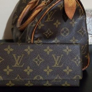 💯Authentic LV Long Wallet